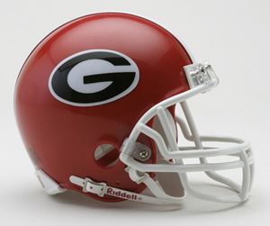 Georgia Bulldogs Mini Riddell Helmet